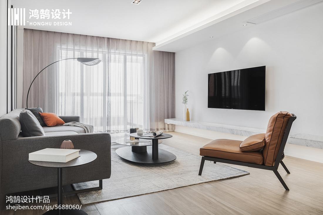 201896平米三居客厅现代装修实景图