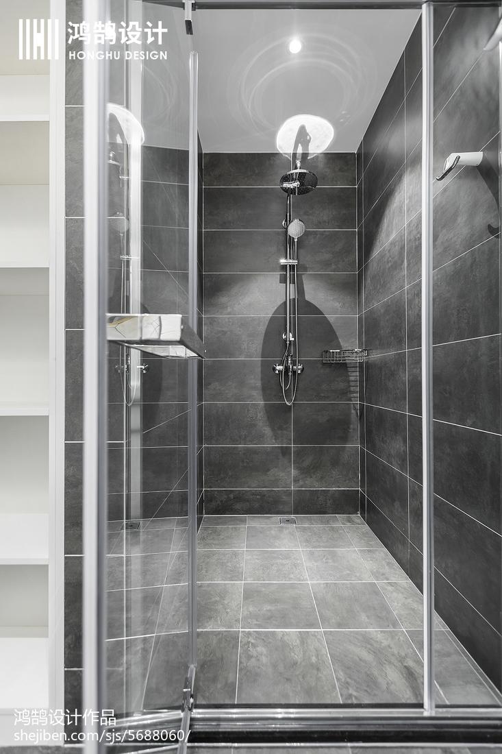 140平现代风卫浴设计图片
