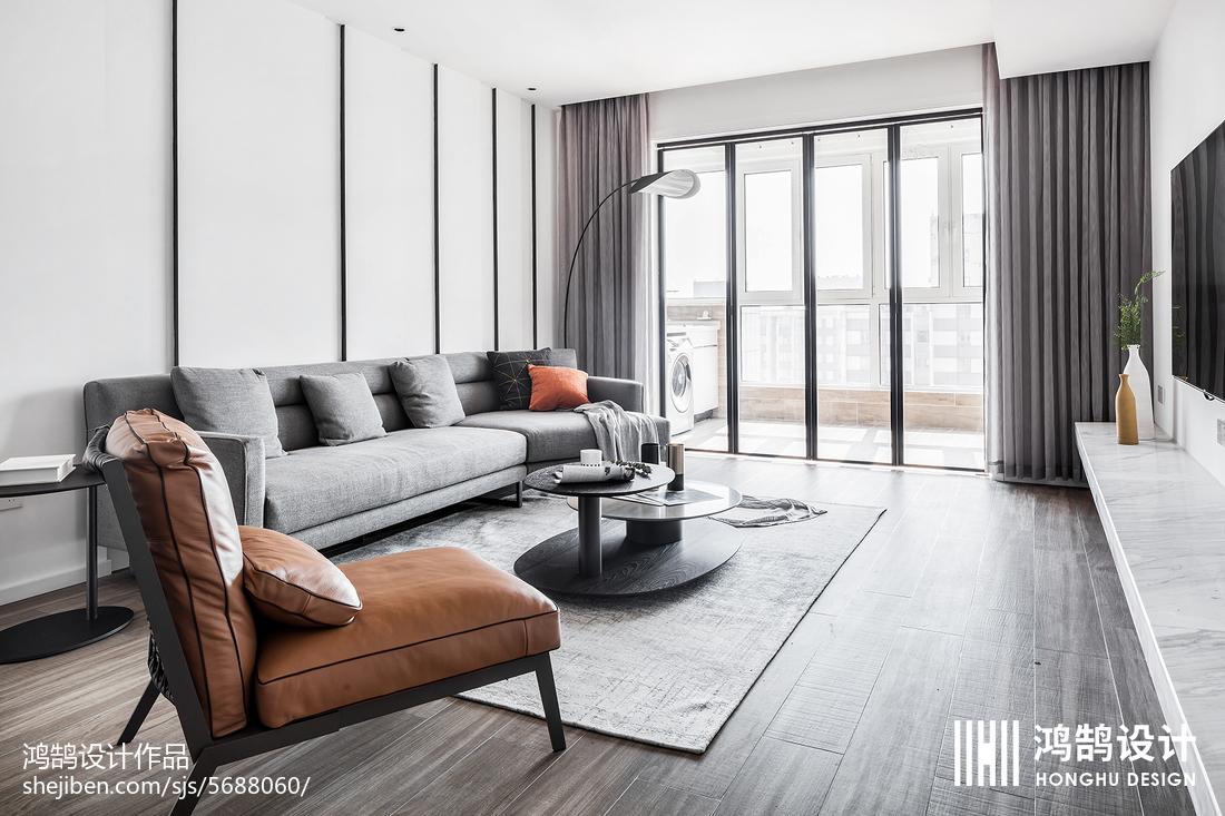 94平方三居客厅现代实景图