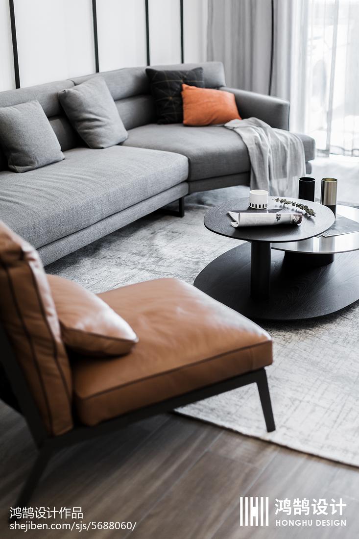 温馨81平现代三居客厅设计美图