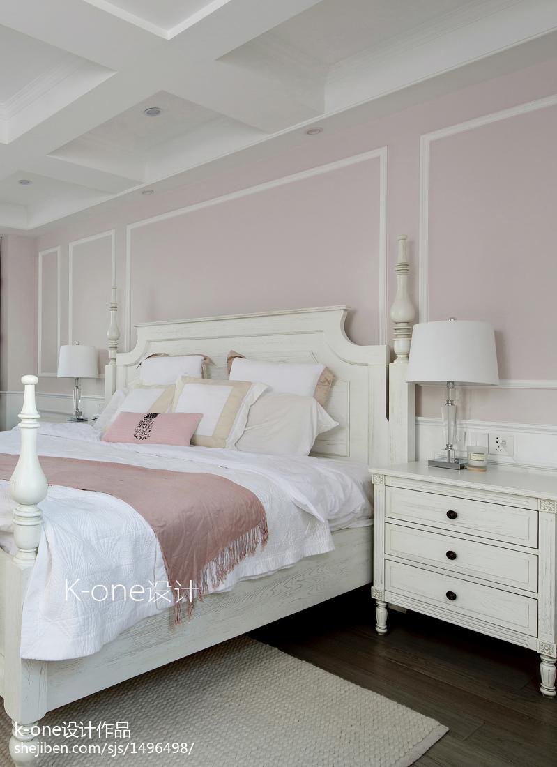 精选132平米美式别墅卧室欣赏图