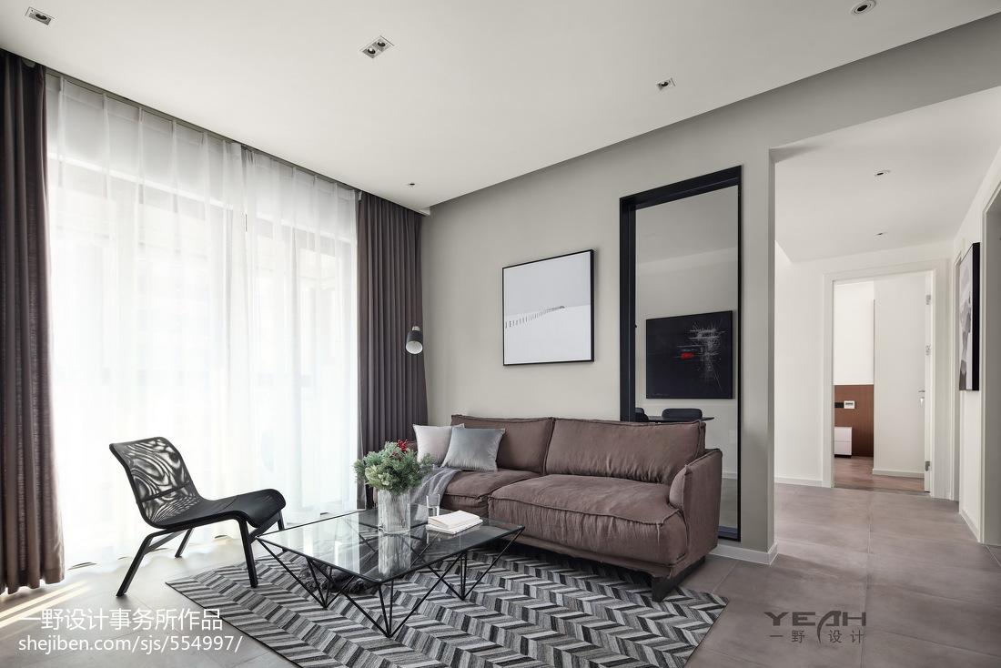 98m²现代风格客厅设计图片