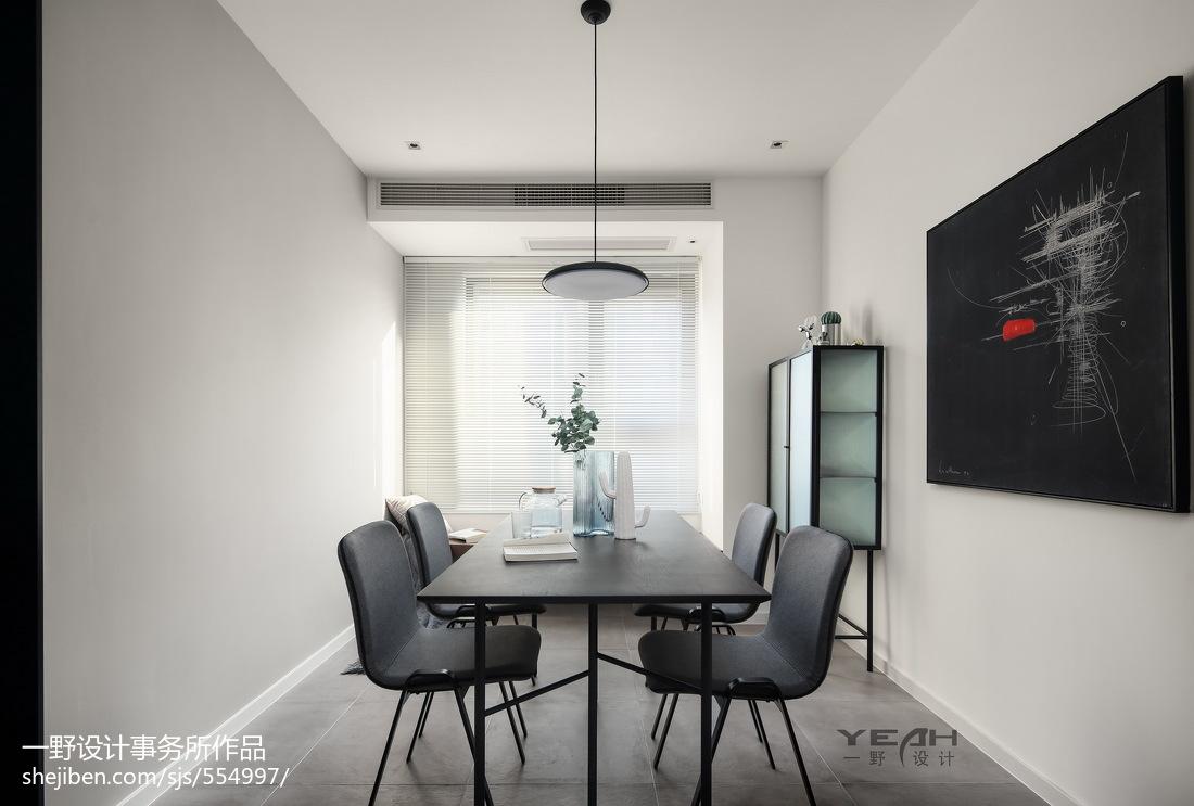 98m²现代风格餐厅设计图