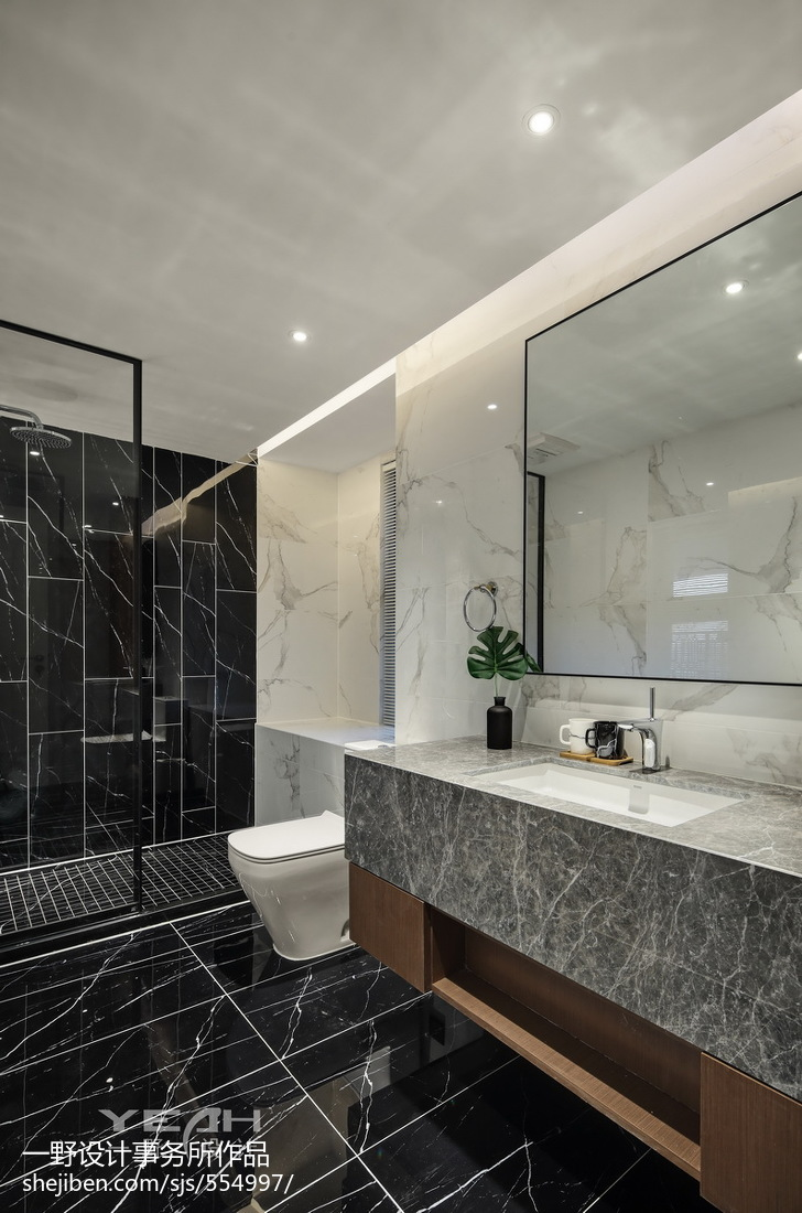 98m²现代风格卫浴设计图