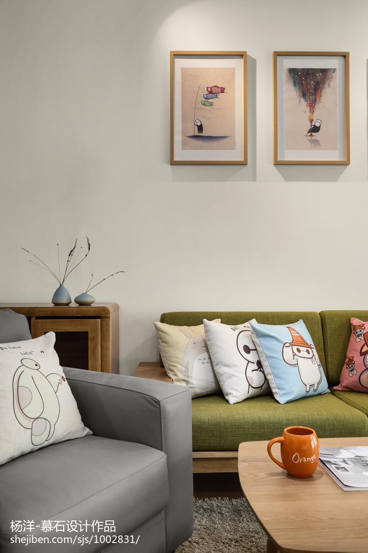热门104平米三居客厅日式装修欣赏图片