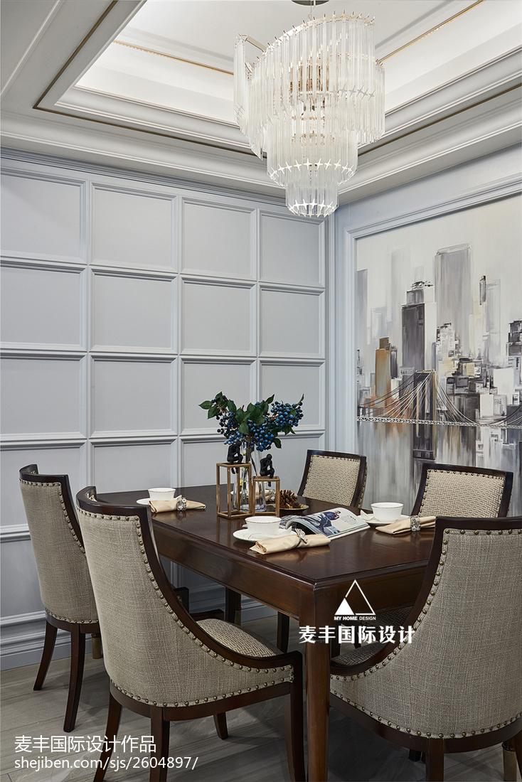 125㎡轻奢美式客厅设计图