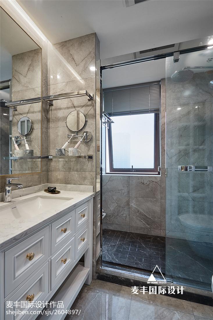125㎡轻奢美式卫浴设计图