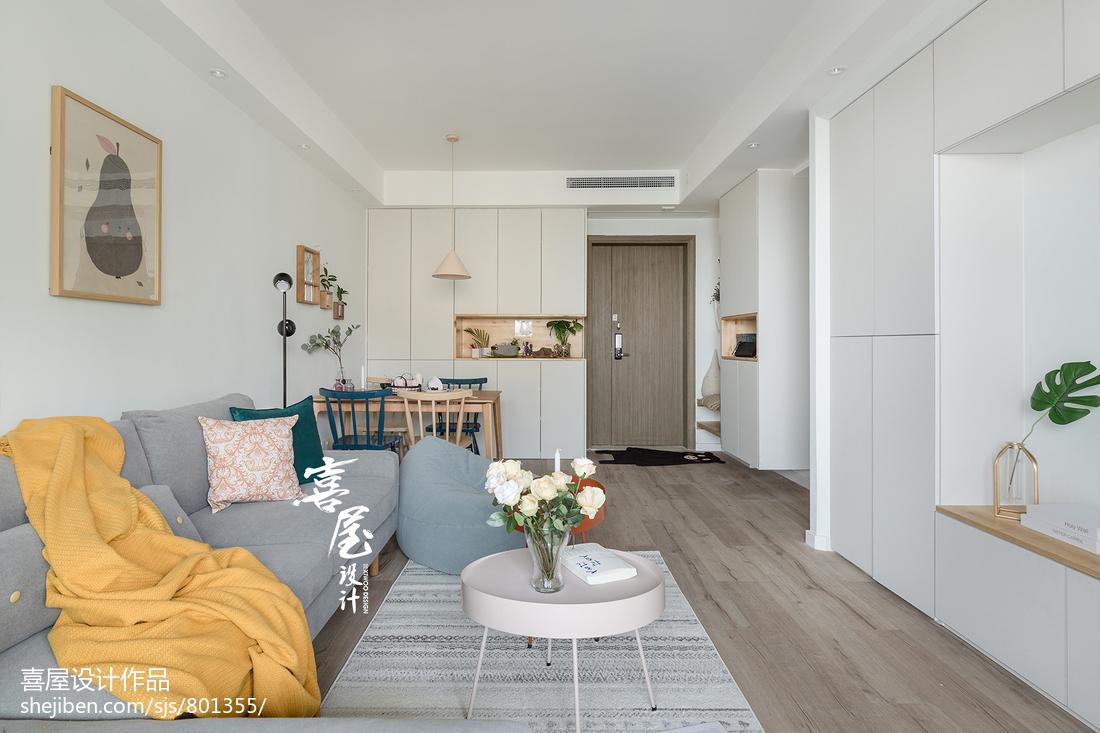 热门面积83平北欧二居客厅效果图片大全