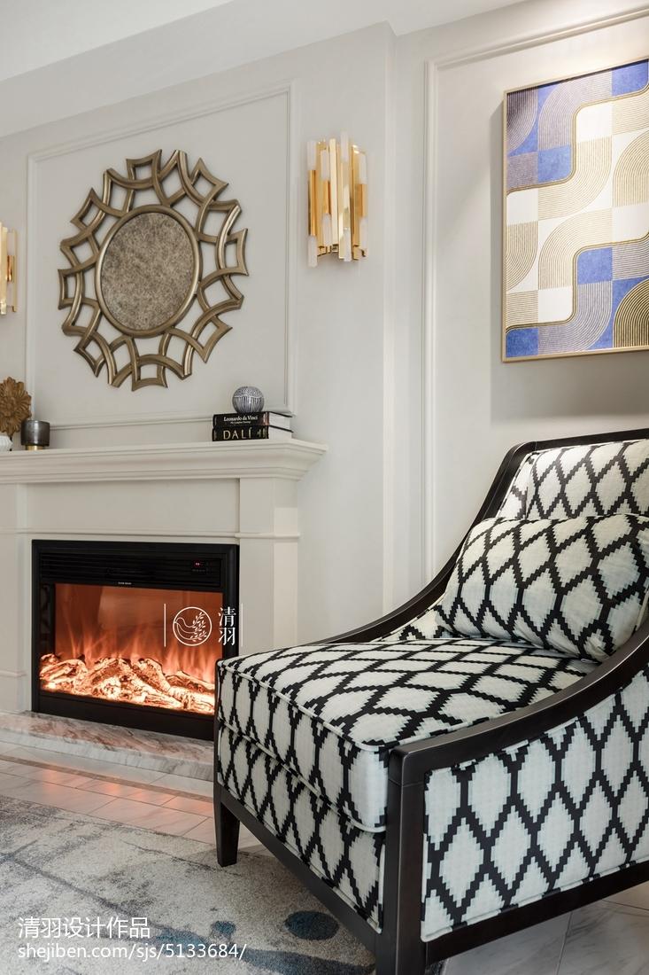 精选93平方三居客厅美式装修设计效果图片大全