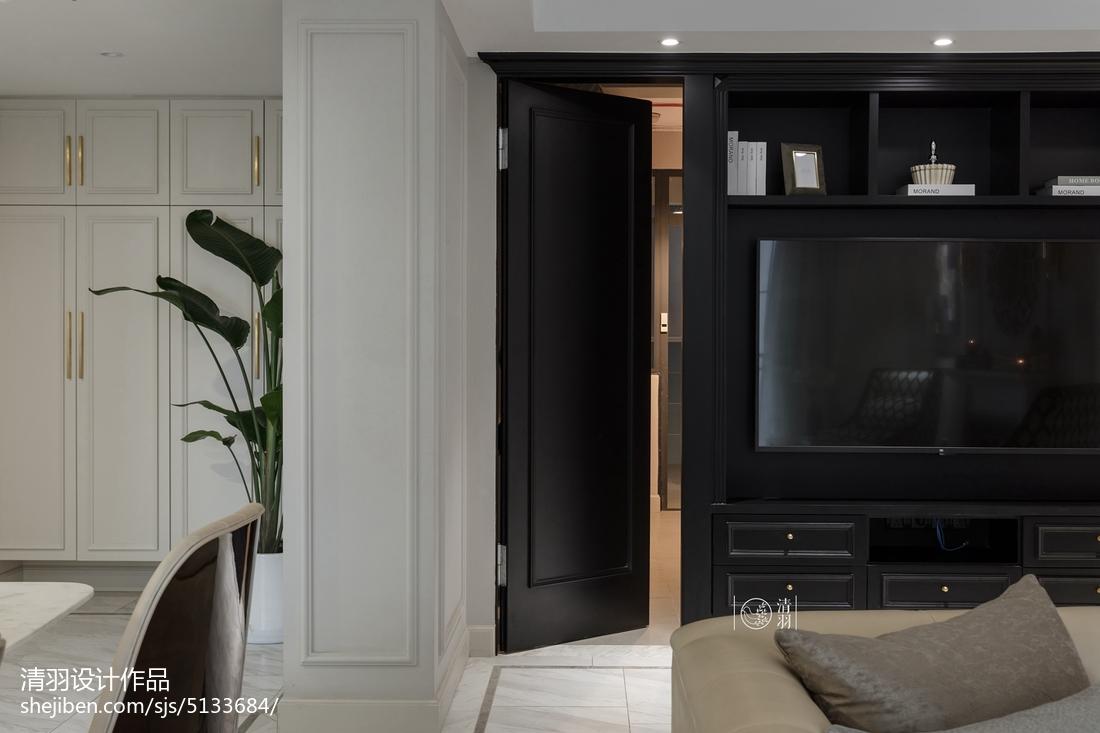 精选面积99平美式三居客厅装修设计效果图片大全