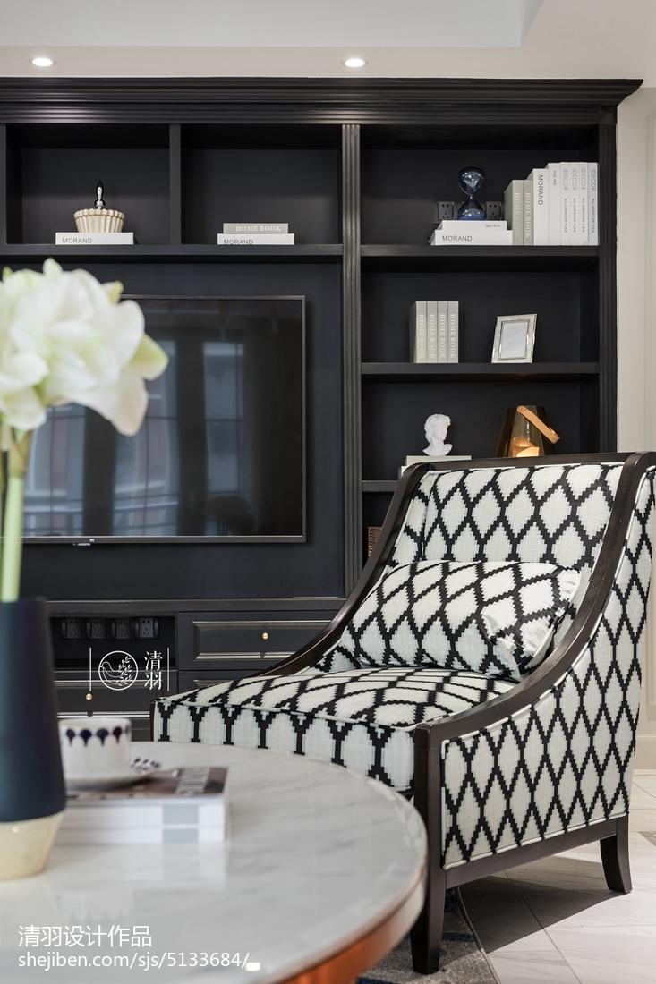 优雅81平美式三居客厅设计图