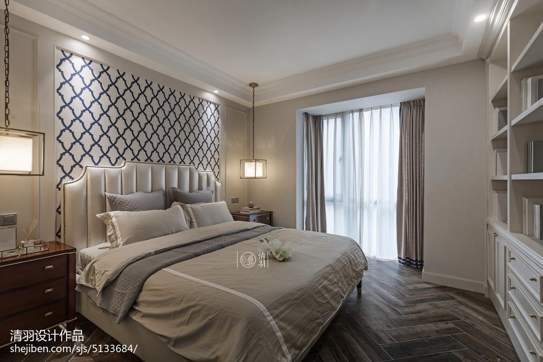 精选108平米三居卧室美式装饰图片欣赏