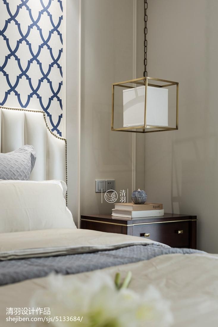 简洁99平美式三居卧室实景图