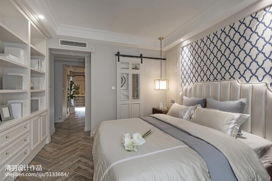 热门面积98平美式三居卧室装修欣赏图