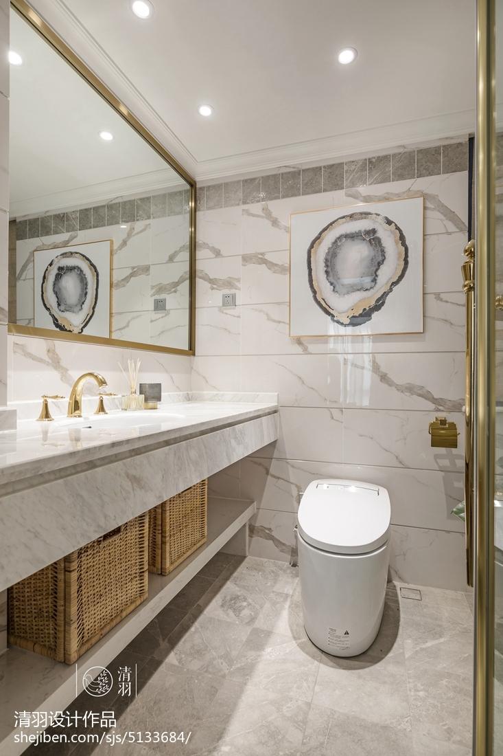 精选三居卫生间美式装修图片欣赏