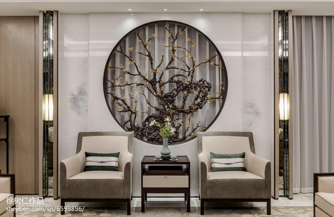 热门125平米中式别墅客厅效果图片大全