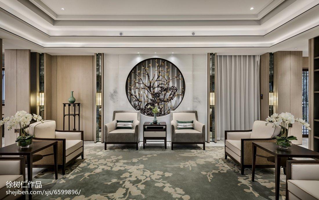 面积143平别墅客厅中式装修图