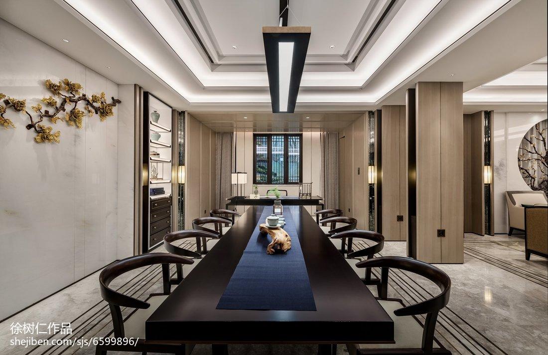 2018精选大小119平别墅餐厅中式装修设计效果图片