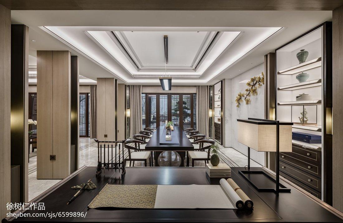 精美143平米中式别墅餐厅欣赏图片