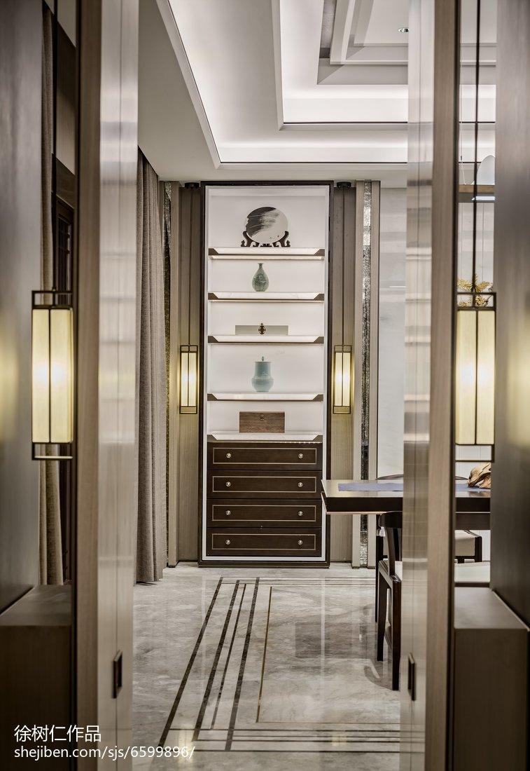 2018精选130平米中式别墅餐厅效果图片欣赏