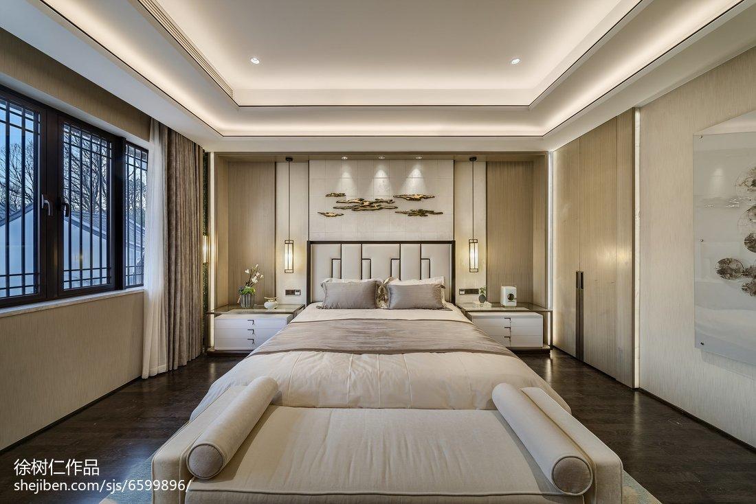 2018面积133平别墅卧室中式装修实景图片欣赏