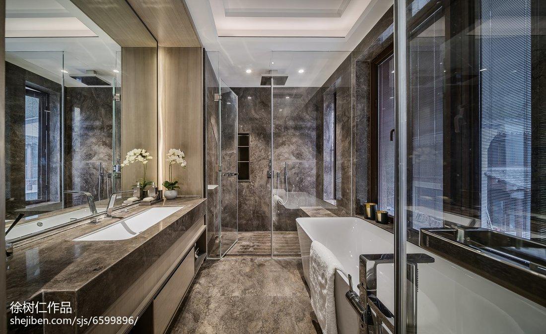 精美面积120平别墅卫生间中式效果图片大全