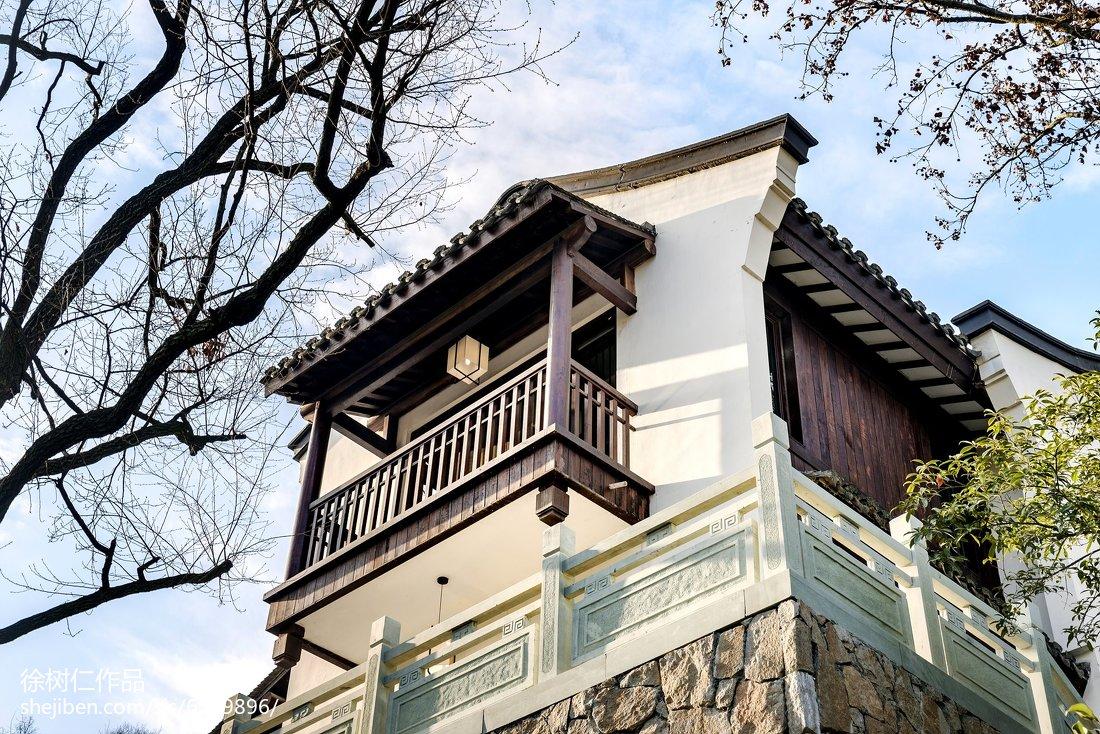 2018中式别墅花园装修实景图片欣赏