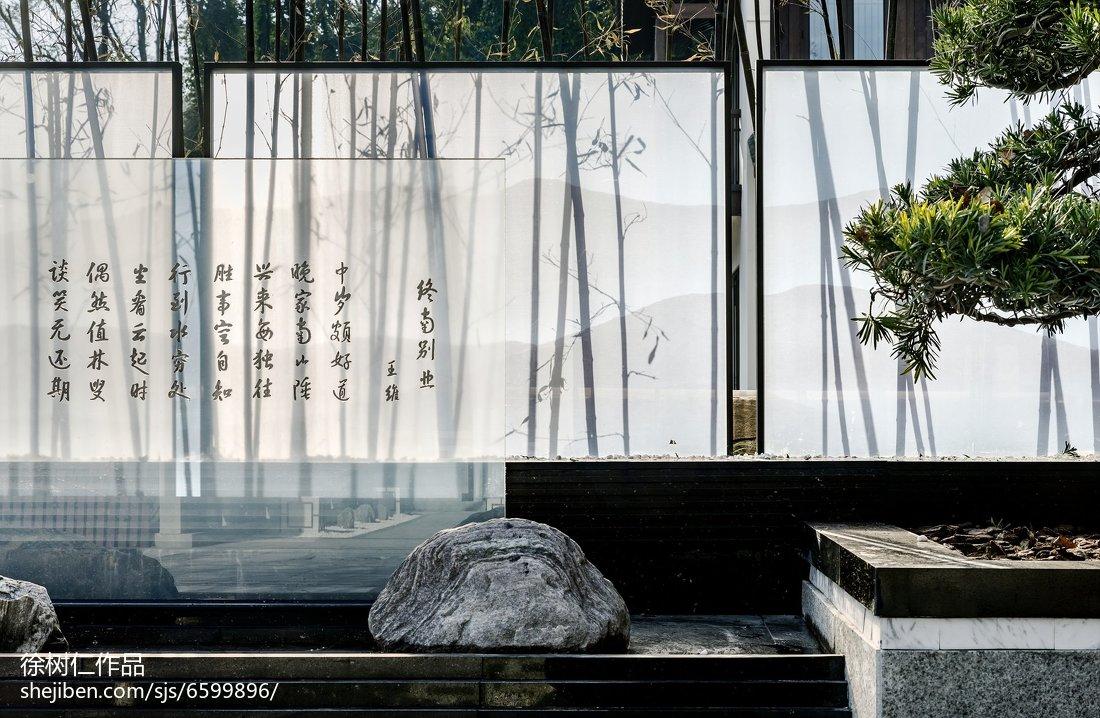 精选113平米中式别墅花园装修欣赏图片大全