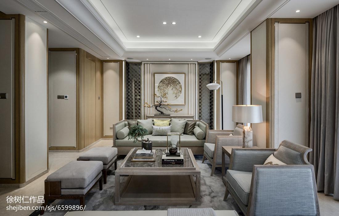 大气970平中式别墅客厅装饰图