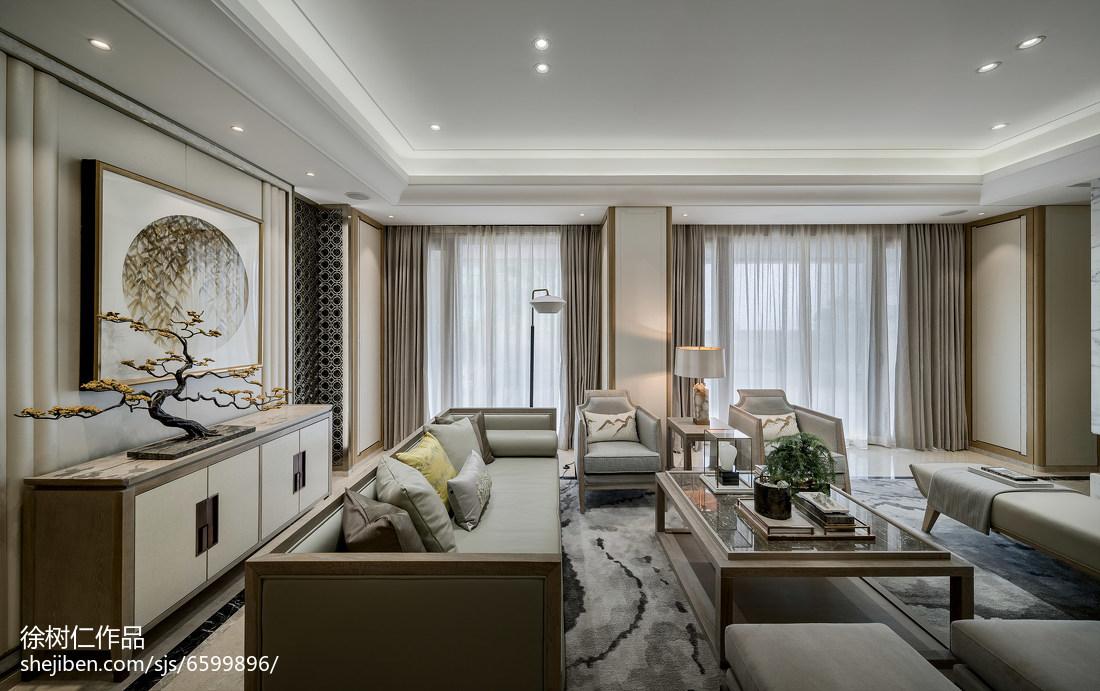 华丽926平中式别墅客厅装修案例