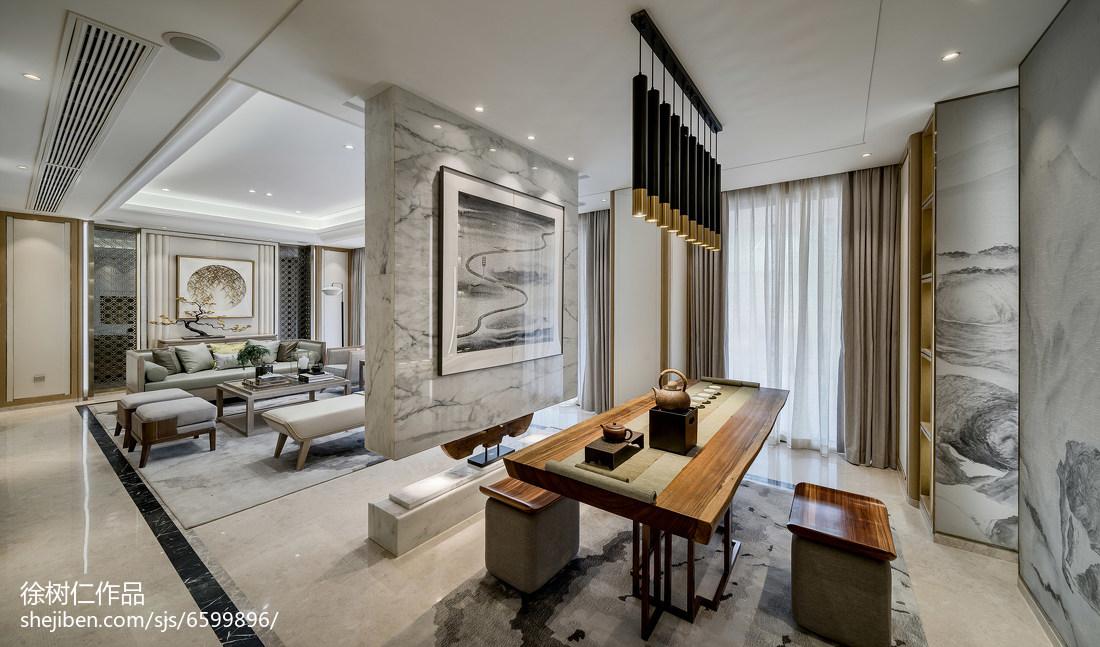 2019768平中式别墅客厅设计效果图