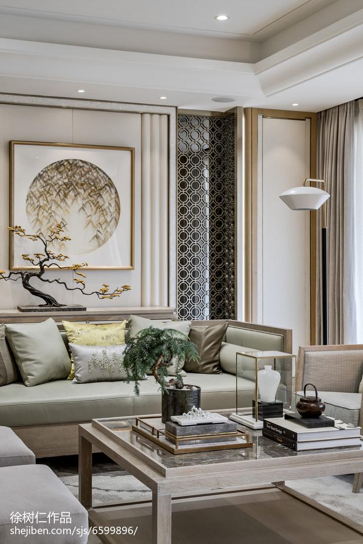 简洁578平中式别墅客厅装饰美图
