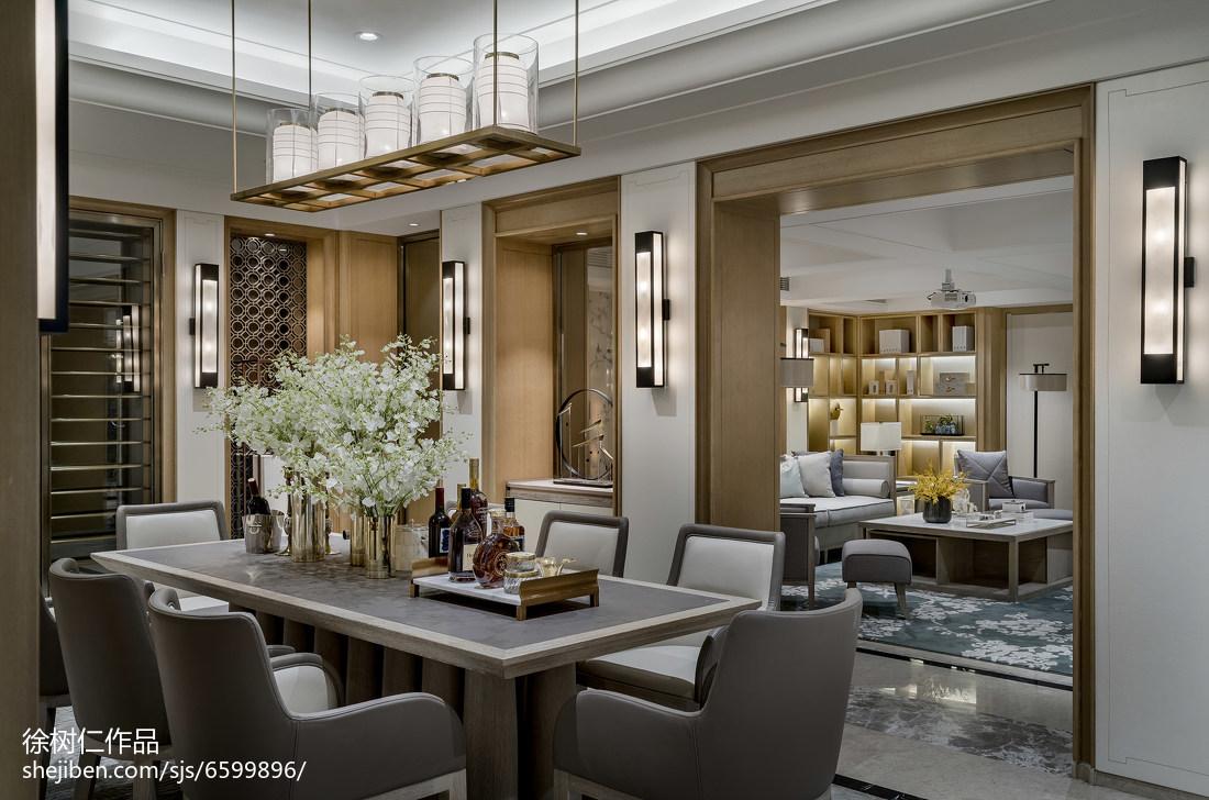 大气446平中式别墅餐厅装潢图