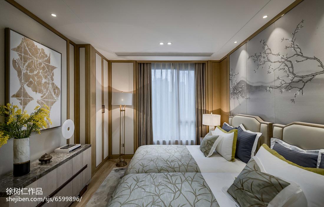 优美613平中式别墅卧室装饰图