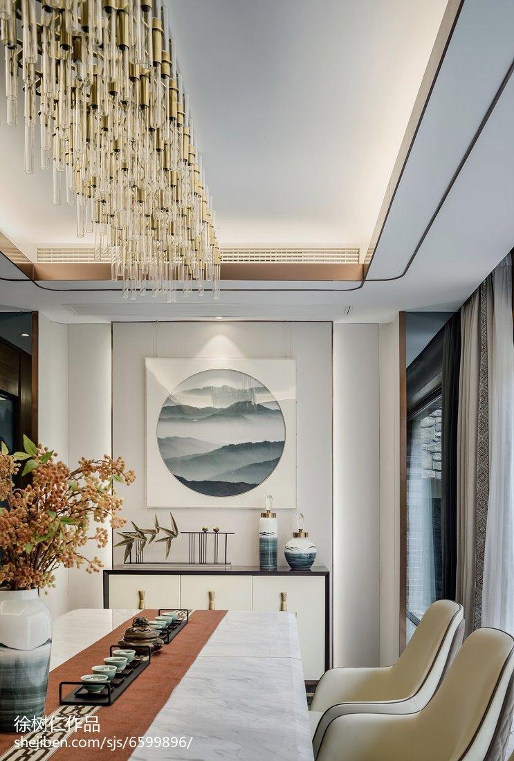 热门面积127平别墅餐厅中式欣赏图片