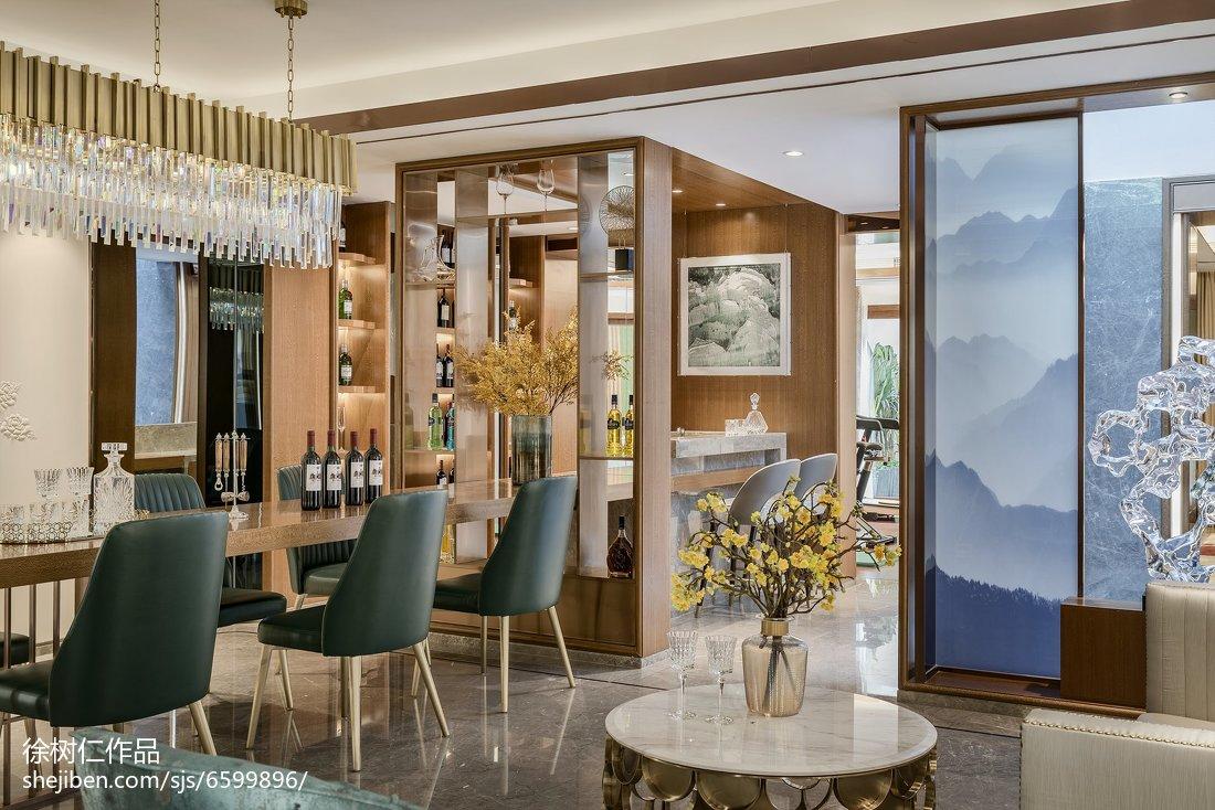 面积133平别墅餐厅中式装修实景图片大全