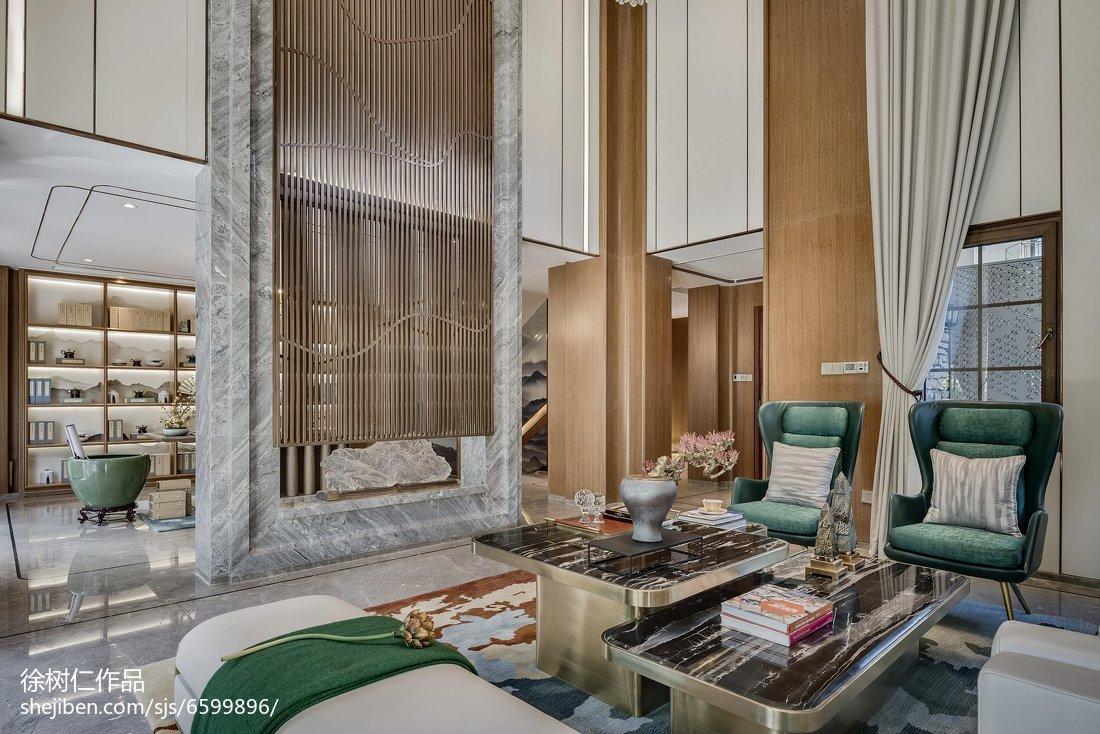 热门137平方中式别墅客厅效果图片