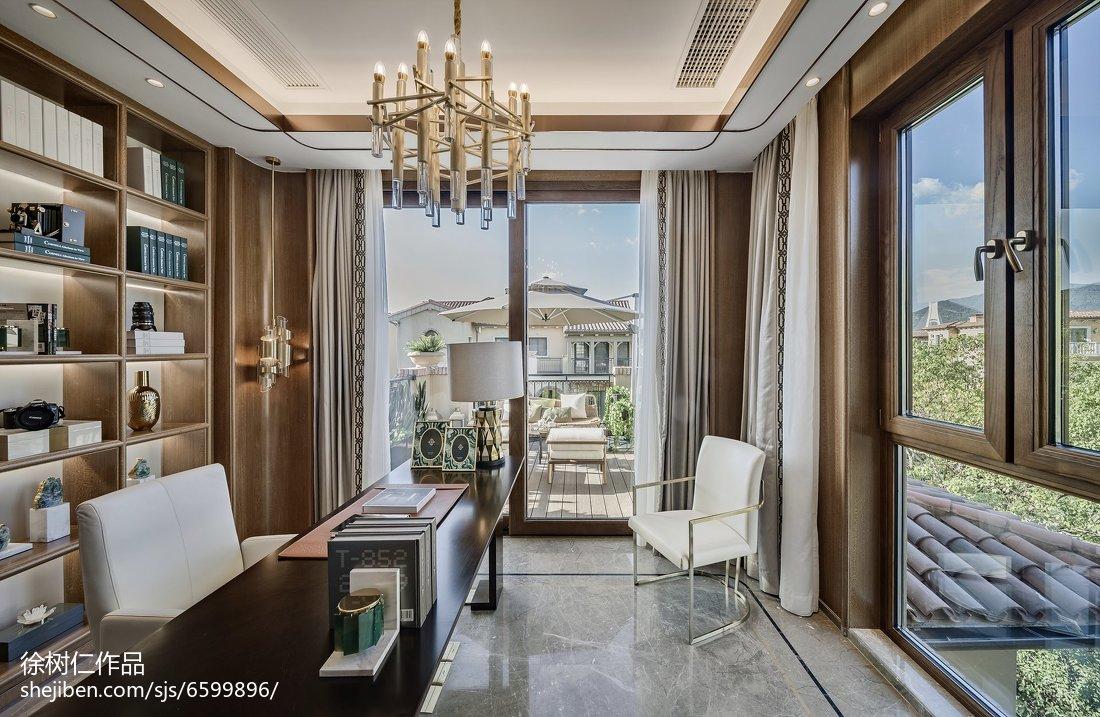 热门138平米中式别墅卧室装修图