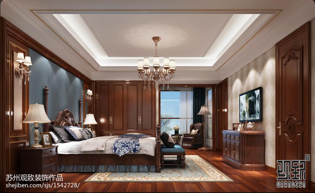 欧式奢华精美卧室装修效果图