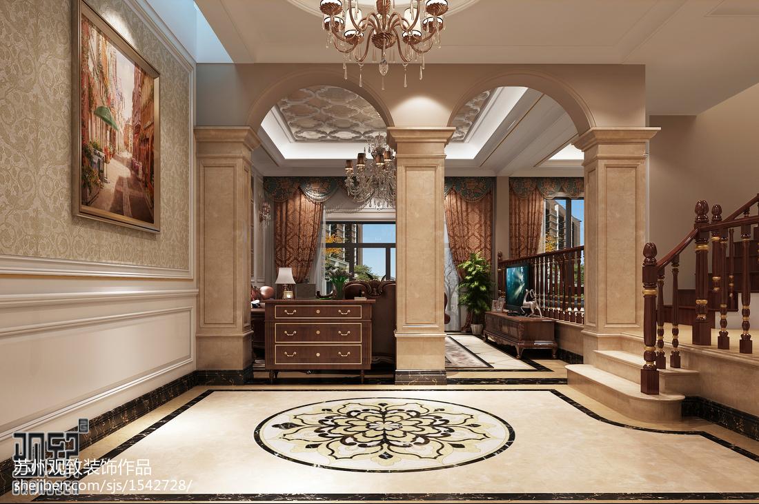 欧式精致奢华客厅装修效果图