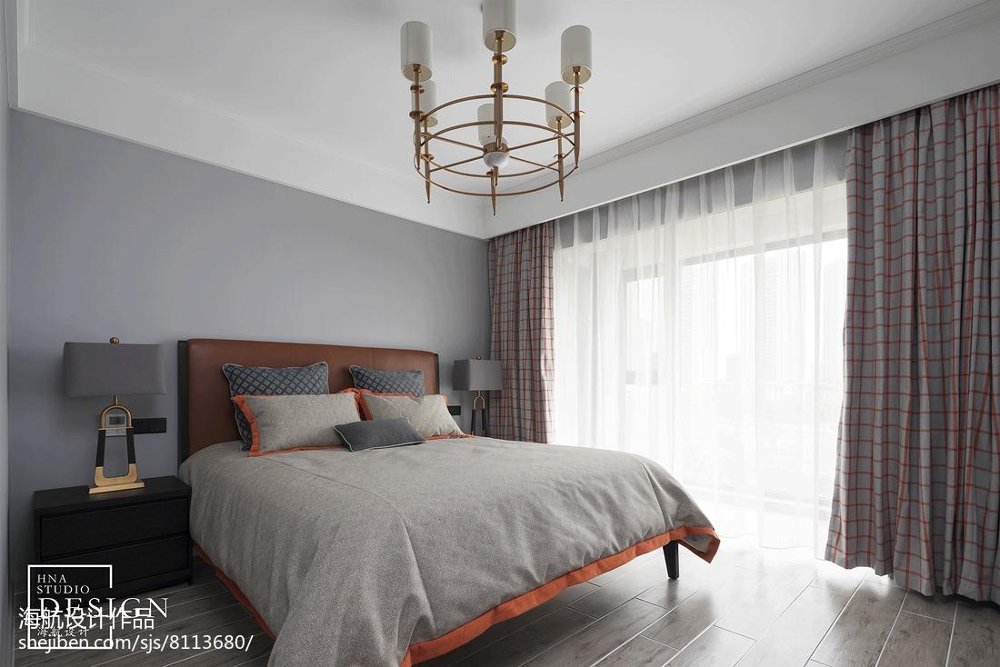优雅151平美式四居卧室案例图