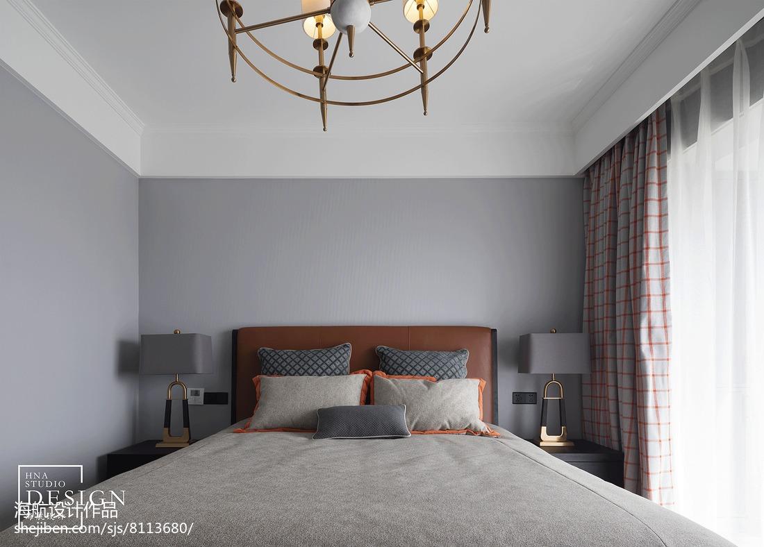 2019135平美式四居卧室设计效果图
