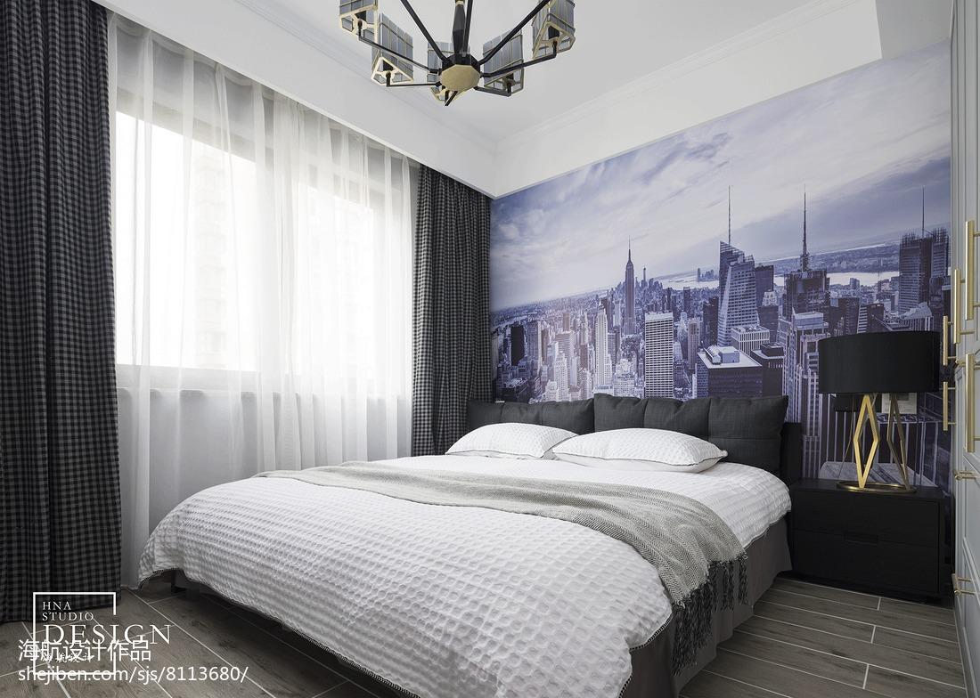 大气140平美式四居卧室布置图