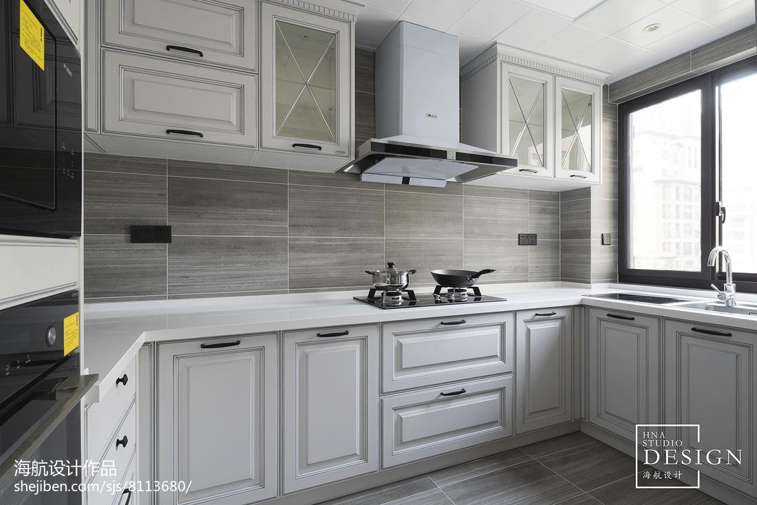 温馨142平美式四居厨房设计美图