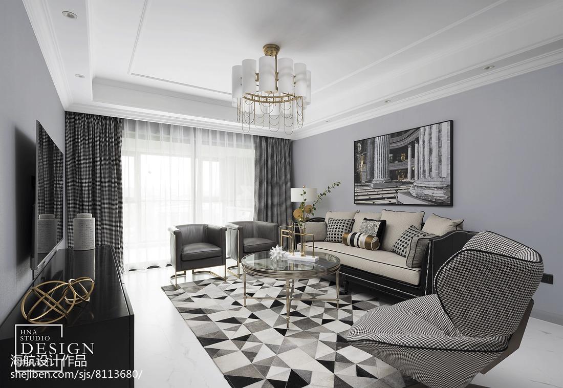 新装饰主义美式客厅设计图片