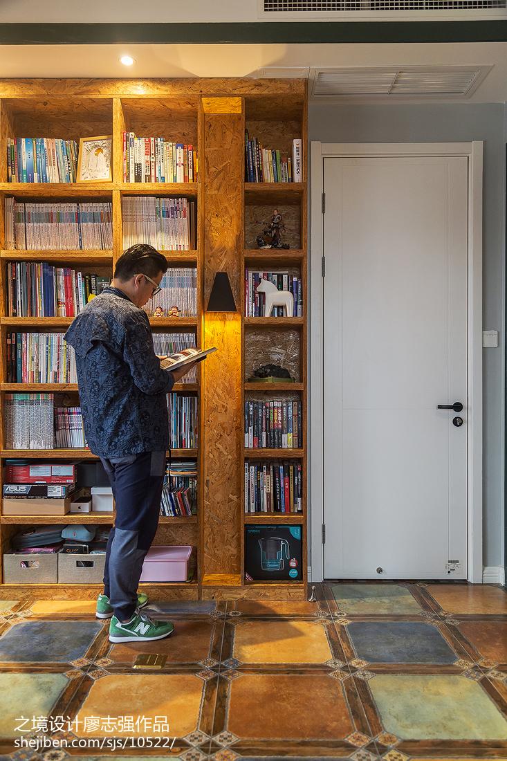 混搭風書房書柜設計圖