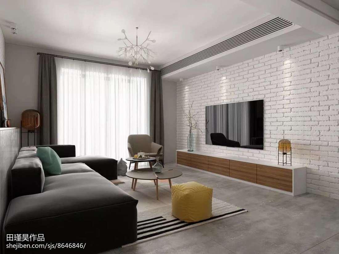 201876平米二居客厅北欧装修实景图