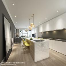 简约厨房吧台装修效果图2013