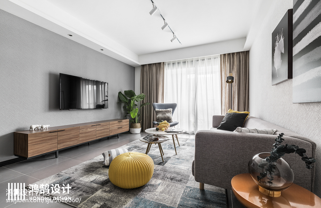 精美100平北欧三居客厅装修美图