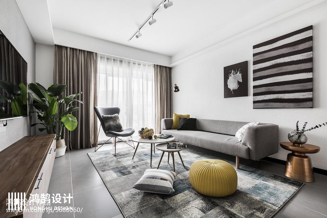 优美120平北欧三居客厅装修美图